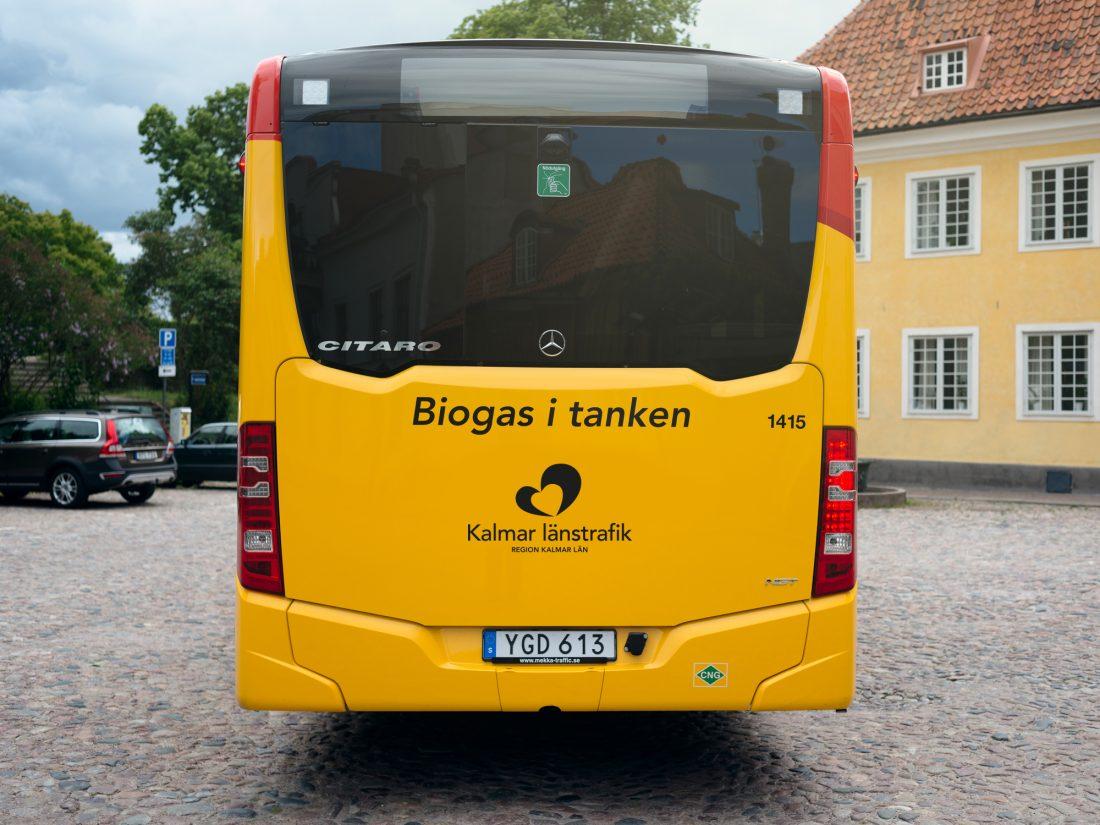 öland buss SVerige Kalmar biogassbuss