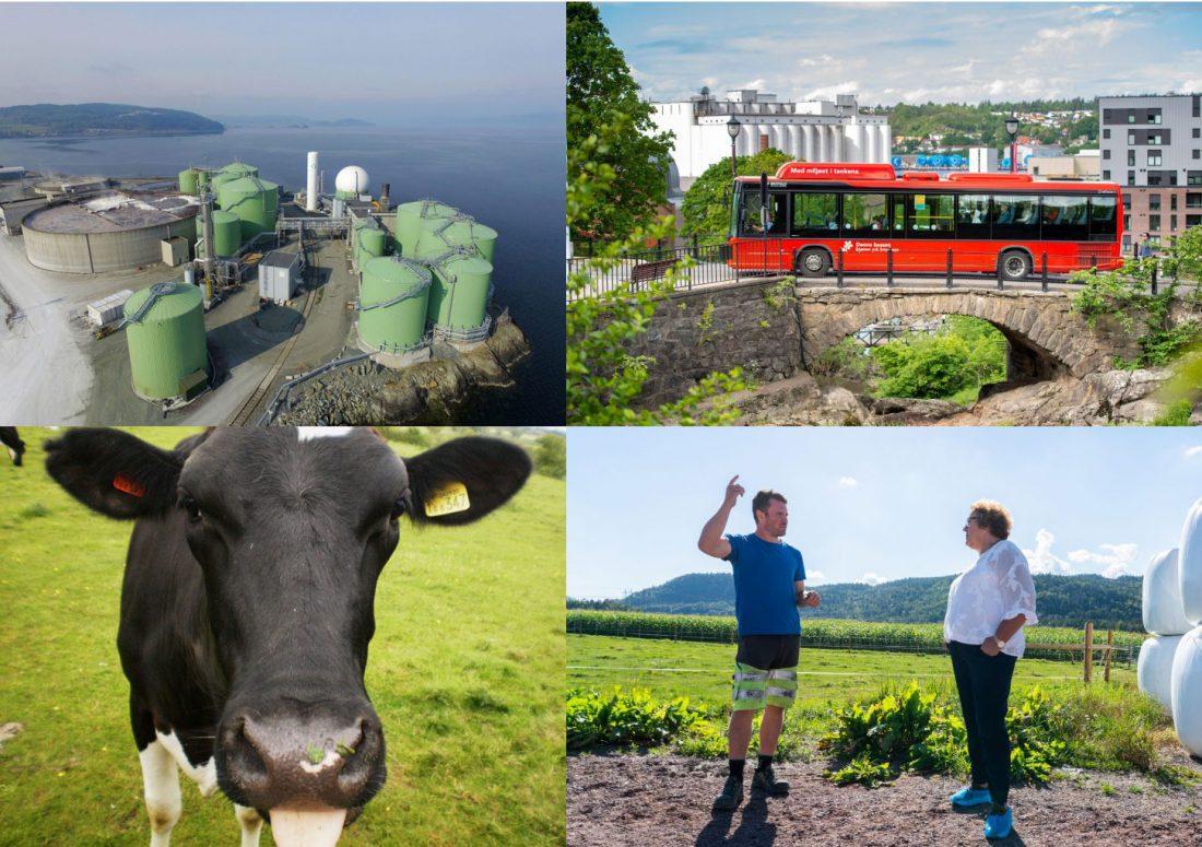 Collage biogass Biokraft ku, Østfold buss Bollestad