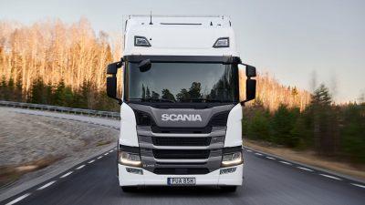 Scania biogass lastebil
