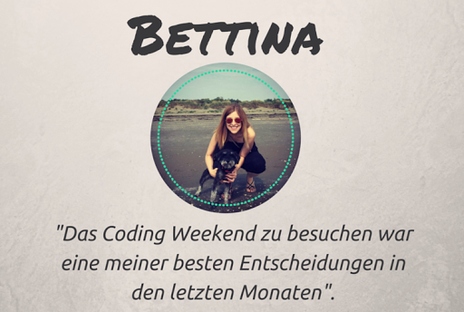 VOM CODING WEEKEND ZUR SOFTWAREENTWICKLERIN