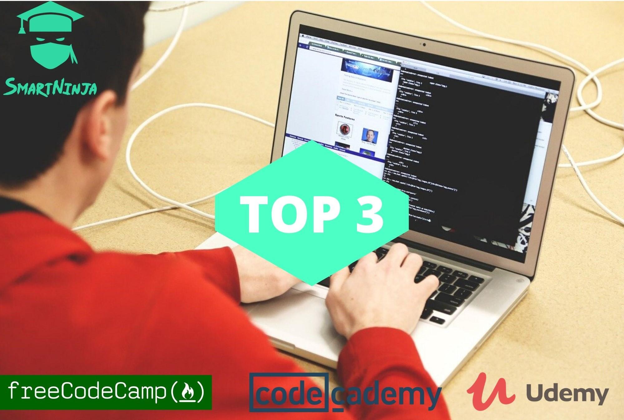 De TOP 3 platformen om te leren programmeren