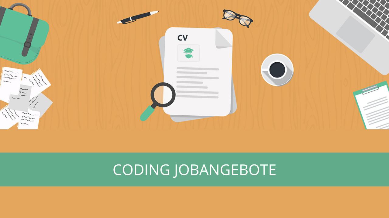 Coding Jobangebote