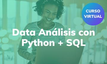 Introducción en Análisis de Datos con Python + SQL | Curso Virtual