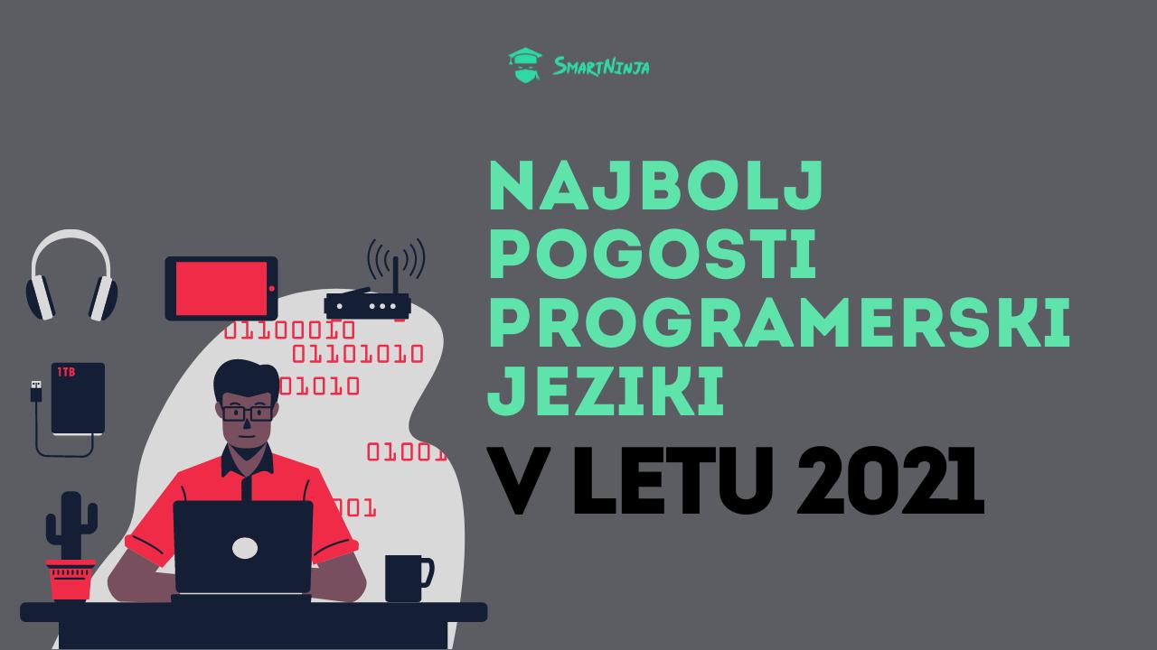 Najbolj pogosti programski jeziki v 2021