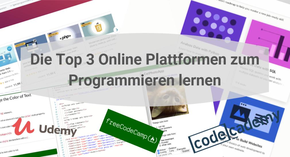 Die top 3 online-Plattformen zum Programmieren lernen