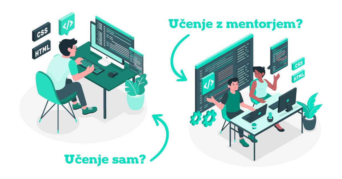 Učenje programiranja - sam/a ali z mentorjem?