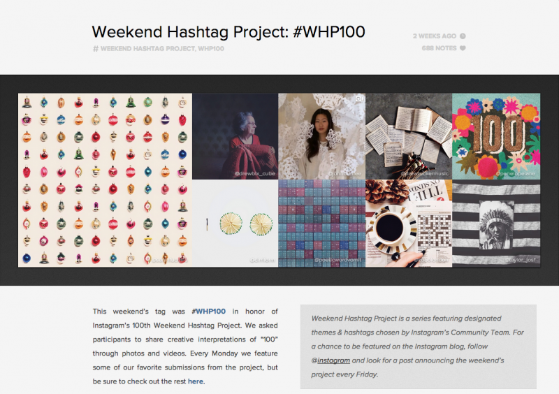 projets photo créatif: weekend hashtag project