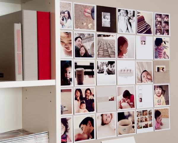 Déco murale - Impression de photos en format carré, bords blancs