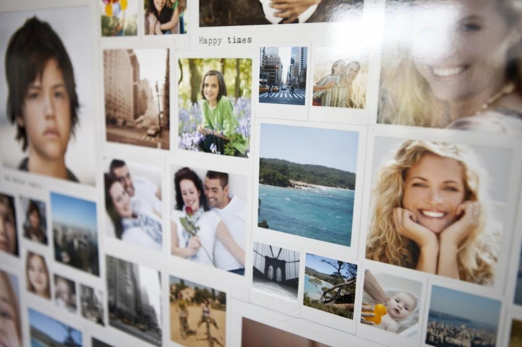 Déco murale: Assemblage de photos de formats variés
