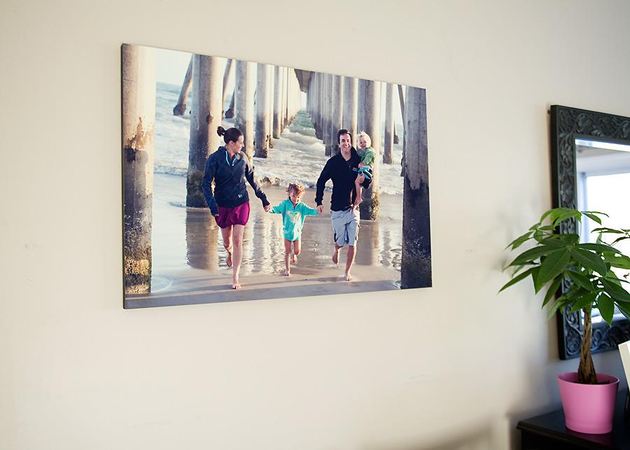 Déco murale - Grande toile imprimée photo de vacances en famille