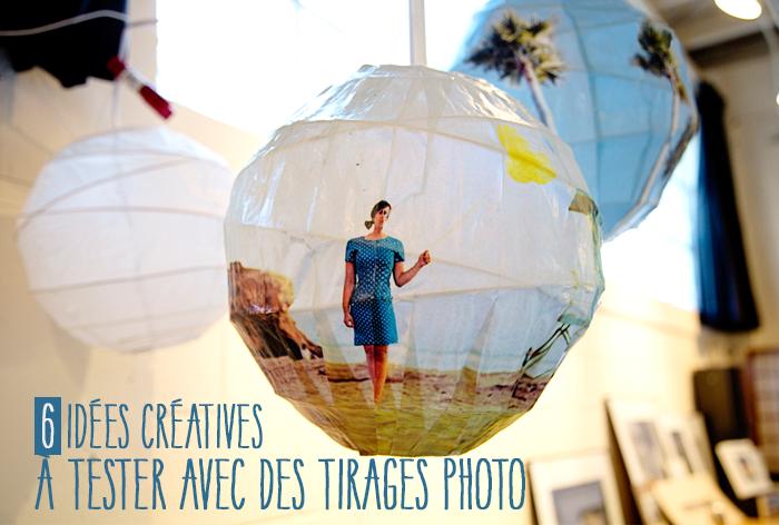 6 idées créatives avec tirage photo diy - photo sur lampe en papier