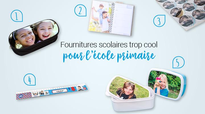 fourniture scolaire - les accessoires pour la rentrée des classes en primaire