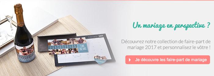 Faire-part mariage personnalisé 2017