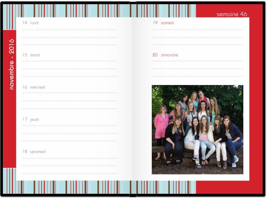 agenda scolaire personnalise 2016-2017
