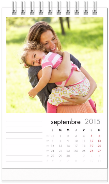 calendrier de bureau personnalisé