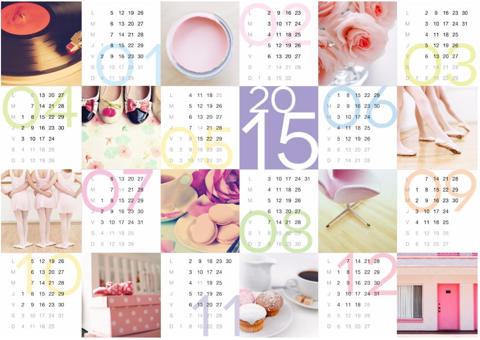 calendrier personnalisé 2016