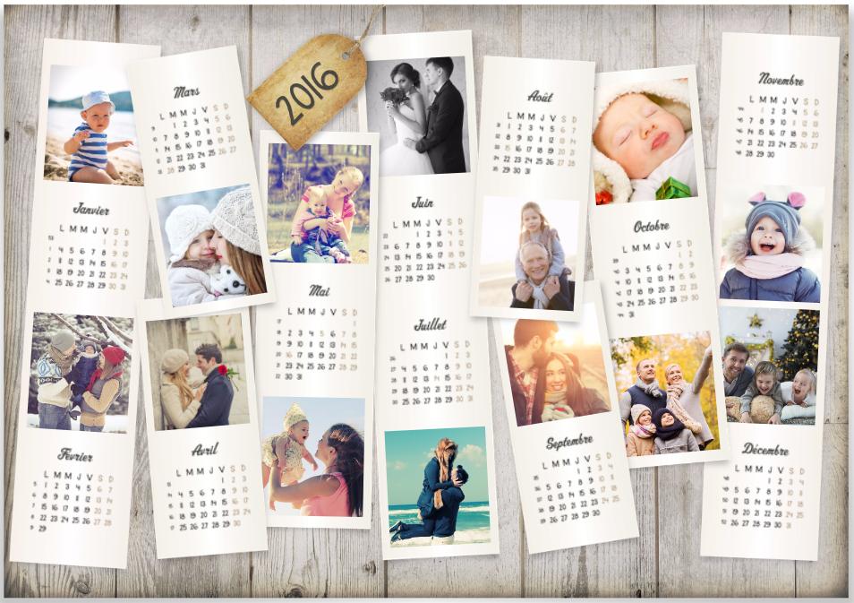 Calendrier Personnalise A Imprimer.Calendrier Personnalisable Vos Photos Instagram A L Honneur