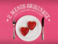 Repas Saint-Valentin : 2 menus originaux à préparer avec amour