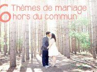 Thème mariage original : 6 idées hors du commun pour 2016