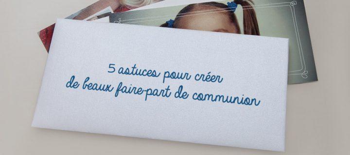 Idée invitation communion : créer facilement de beaux faire-part