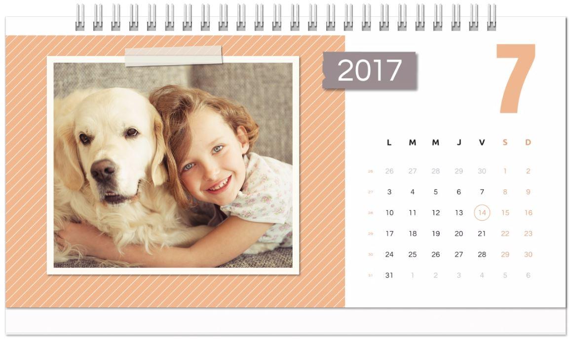 calendrier photo 2017