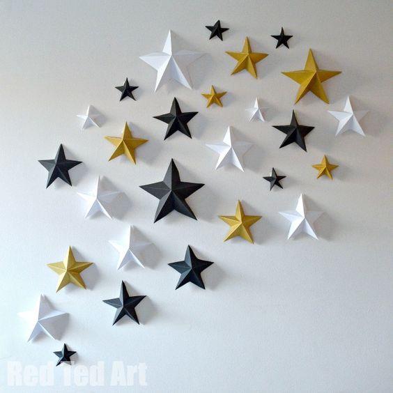 décoration de Noël à faire soi-même: étoiles en papier