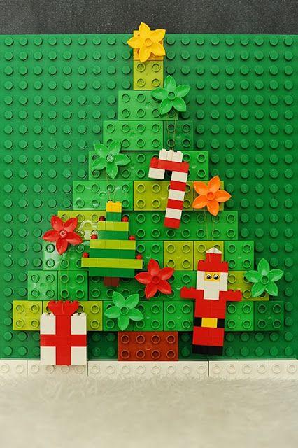 décoration de Noël à faire soi-même : sapin original en legos