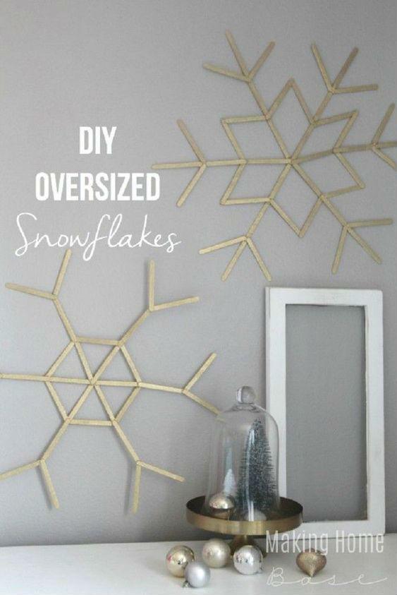 décoration de Noël à faire soi-même : flocons de neige géants