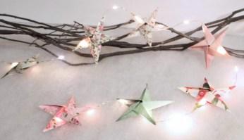 décoration de Noël à faire soi-même : guirlande à étoiles