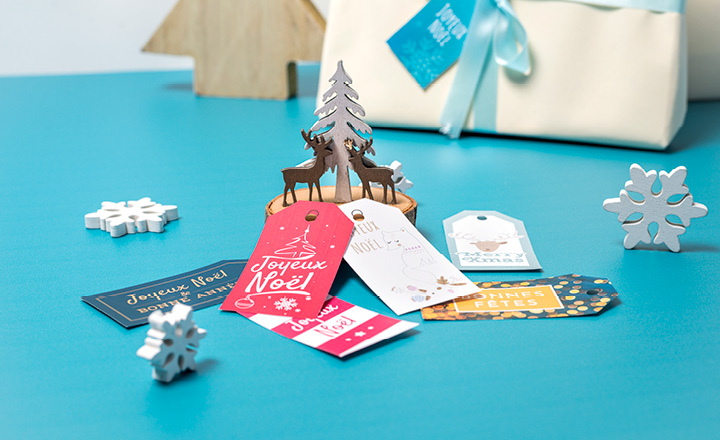étiquettes cadeaux Noël à imprimer