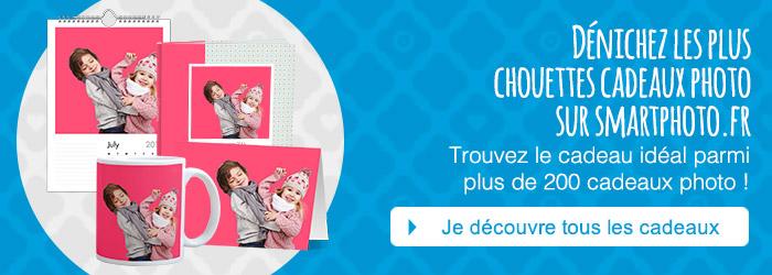 Dénichez les plus chouettes cadeaux photo sur smartphoto.fr