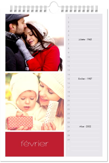 les bonnes résolutions; Se souvenir des anniversaires de la famille et des proches