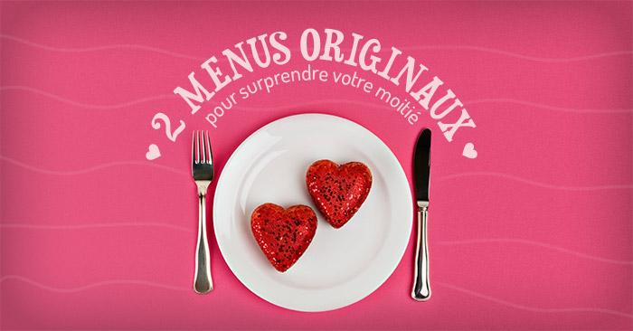 menus pour la saint-valentin