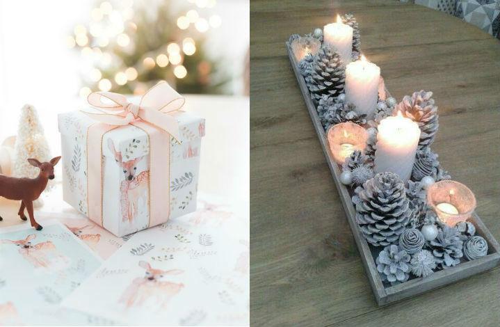 décoration pour Noël: le pastel en folie