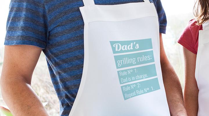 Tablier personnalisé pour la fête des pères