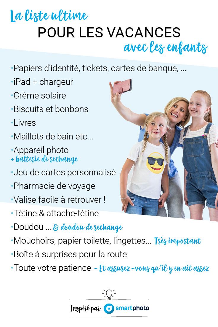 Check-list pour partir en vacances avec les enfants
