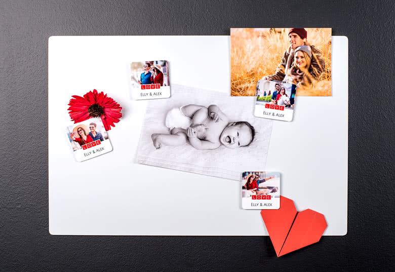 Imprimer des photos - avec aimants personnalisés texte