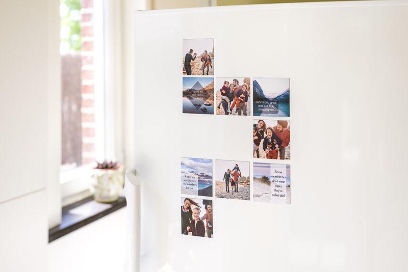 Imprimer des photos sur aimants frigo