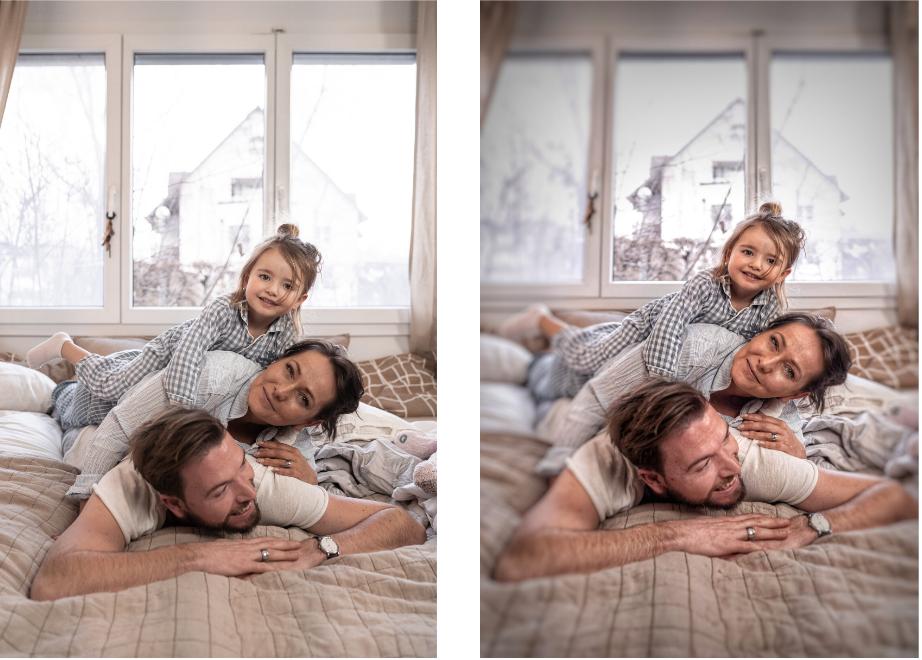 Photo avant/après avec retouche sur snapseed