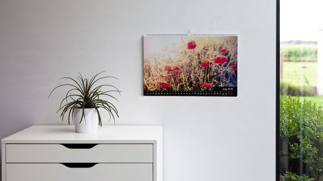 Variante : le calendrier mural est un cadeau très apprécié des grands-parents. Utile et décoratif !