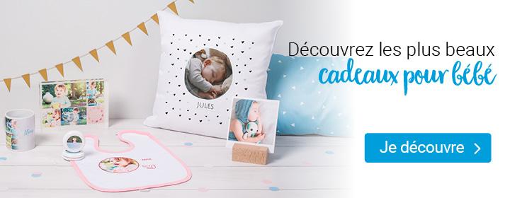 Idées de cadeaux personnalisés pour la naissance d'un bébé smartphoto