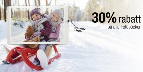 Vintererbjudande 30 rabatt på Fotoböcker