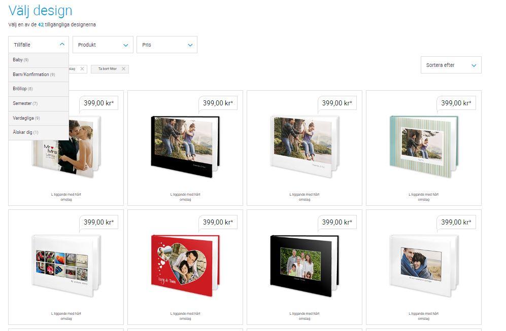 Designs fotoböcker