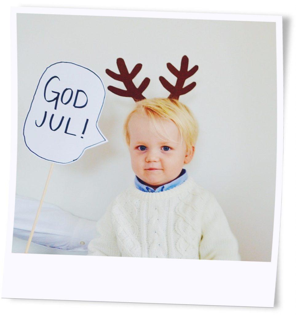 Skapa julkort med rekvisita