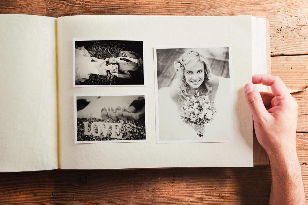 Fotoalbum med bilder