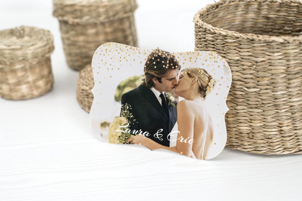 Fotokort med spetskant