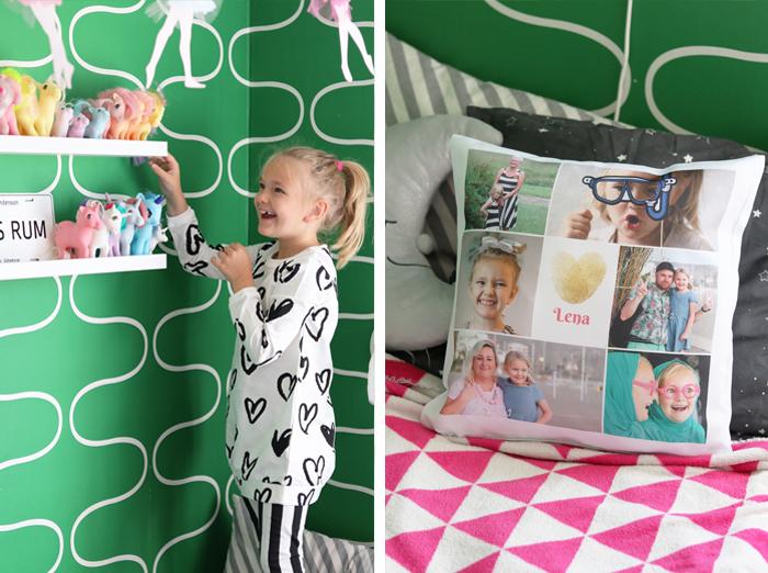 Barnrum - kudde med foto
