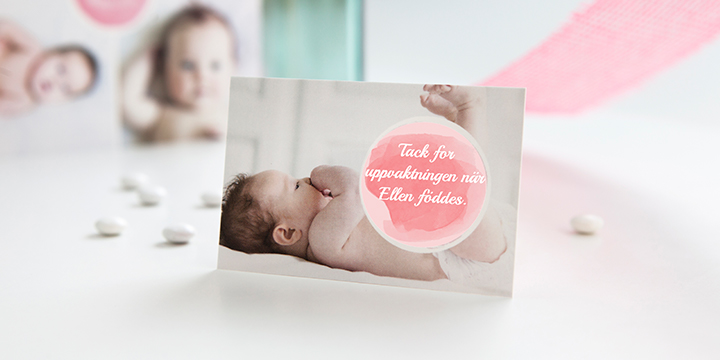 Tackkort nyfödd