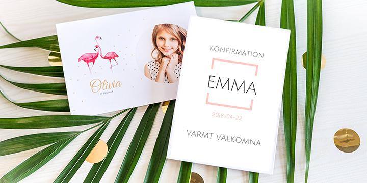 Inbjudningskort konfirmation