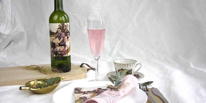 drömbröllop - flasketikett